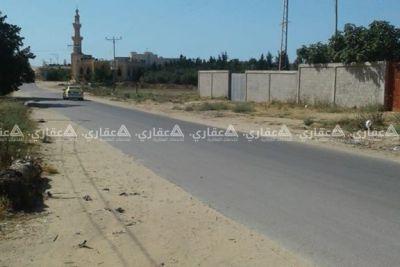 ارض بغزة الجديده شمال جامعه الزهراء