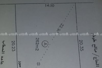 أرض للبيع في الزيتون  مساحتها  ٢٦٢ متر