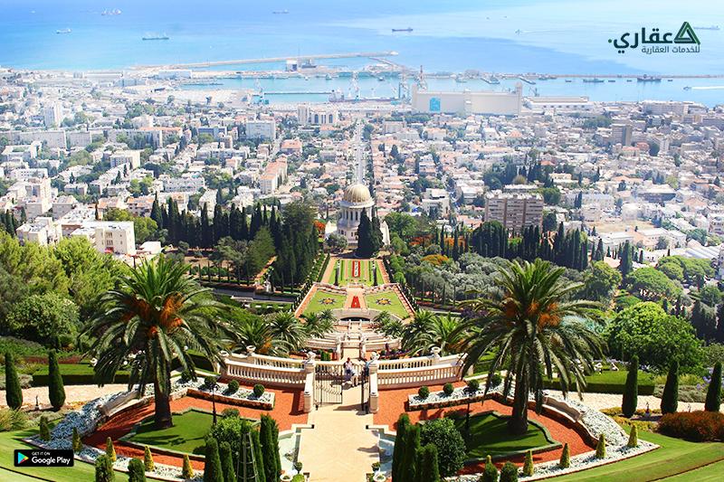 حدائق البهائيين من أثار ومعالم فلسطين في مدينة حيفا